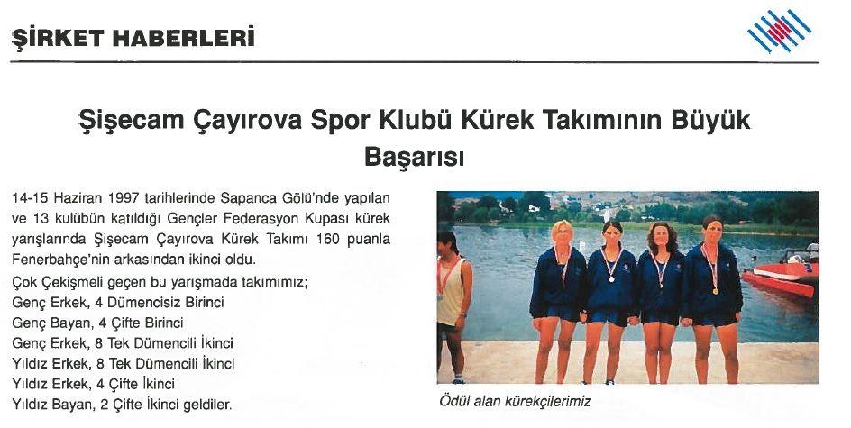 Şişecam Çayırova Spor Kulubü Kürek Takımının Büyük Başarısı