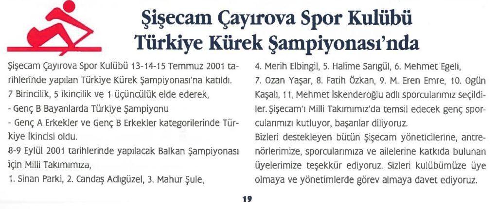 Şişecam Çayırova Spor Kulubü Türkiye Kürek Şampiyonasında
