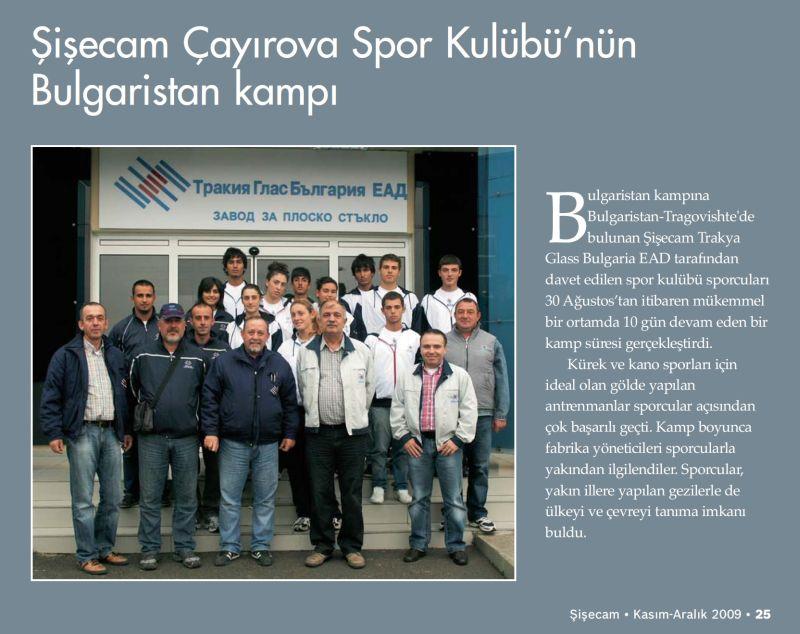 Şişecam Çayırova Spor Kulubü'nün Bulgaristan Kampı