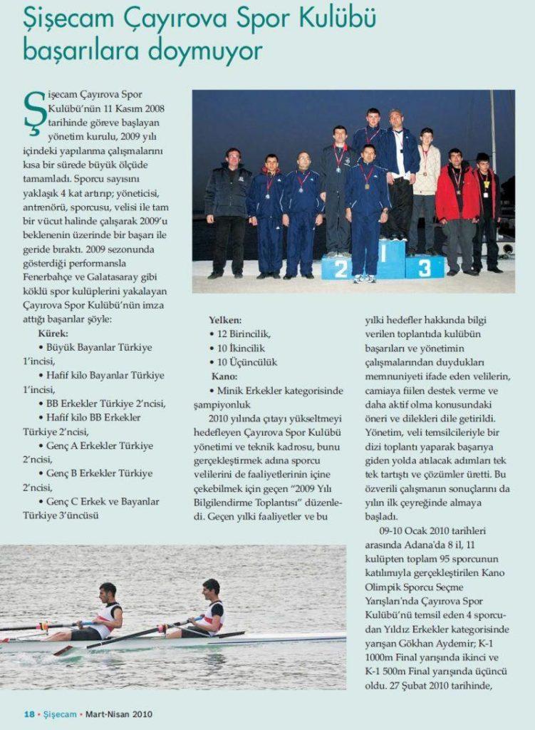 Şişecam Çayırova Spor Kulubü Başarılara Doymuyor