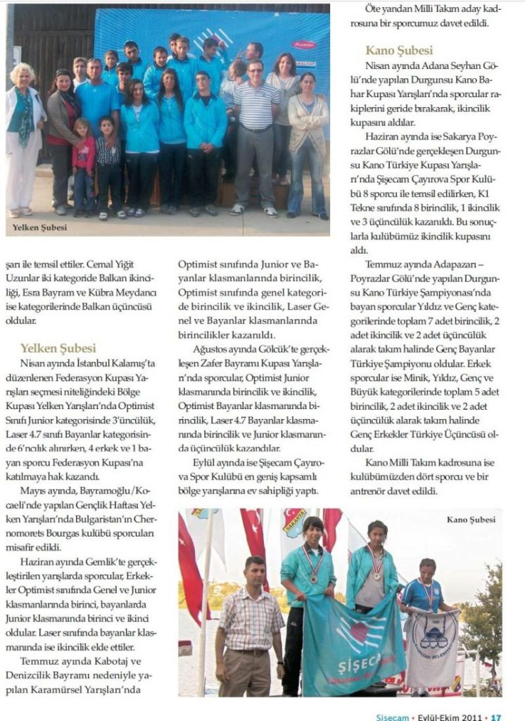 Şişecam Çayırova Spor Kulubü Yine Başarılara İmza Attı