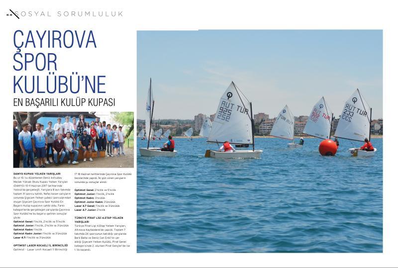Çayırova Spor Kulübü'ne En Başarılı Kulüp Kupası