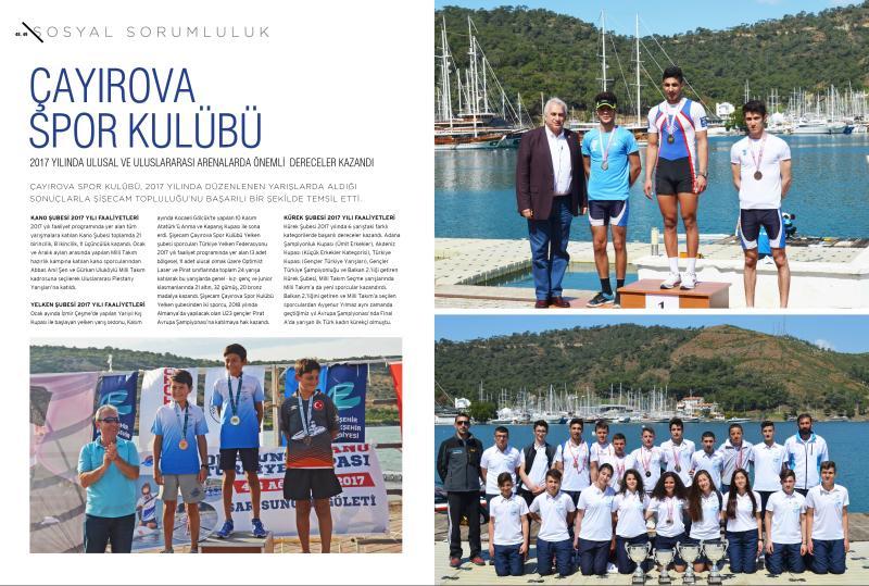 Çayırova Spor Kulübü 2017 Yılında Ulusal ve Uluslararası Arenelarda Önemli Dereceler Kazandı