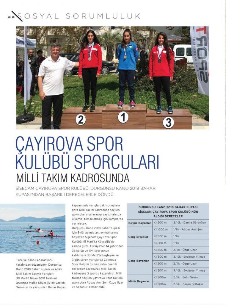 Çayırova Spor Kulübü Sporcuları Milli Takım Kadrosunda