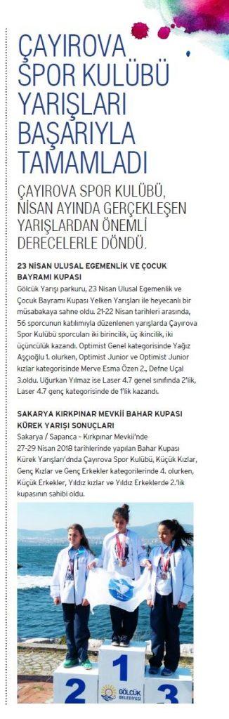 Çayırova Spor Kulübü Yarışları Başarıyla Tamamladı