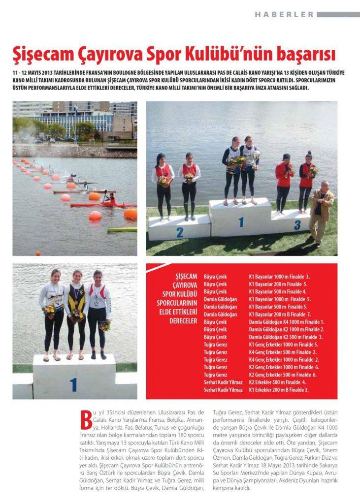Şişecam Çayırova Spor Kulübü'nün başarısı