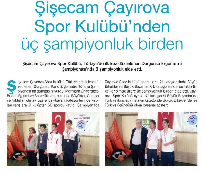 Şişecam Çayırova Spor Kulübü'nden üç şampiyonluk birden