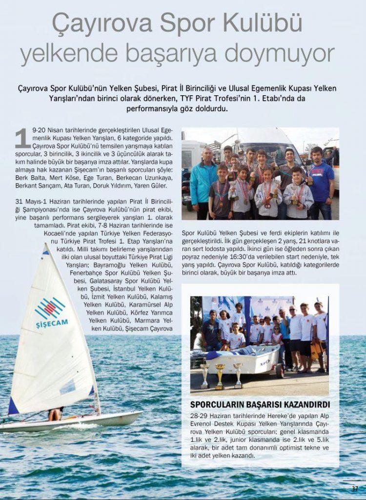 Çayırova Spor Kulübü yelkende başarıya doymuyor