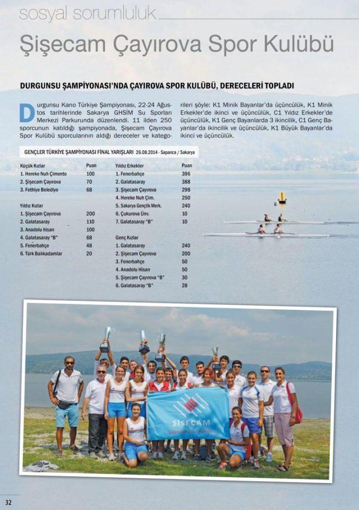 Şişecam Çayırova Spor Kulübü kano ve yelkende yine zirvede