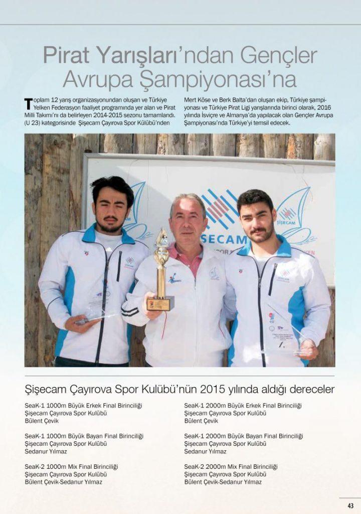 Şişecam Çayırova su sporlarında fark yarattı
