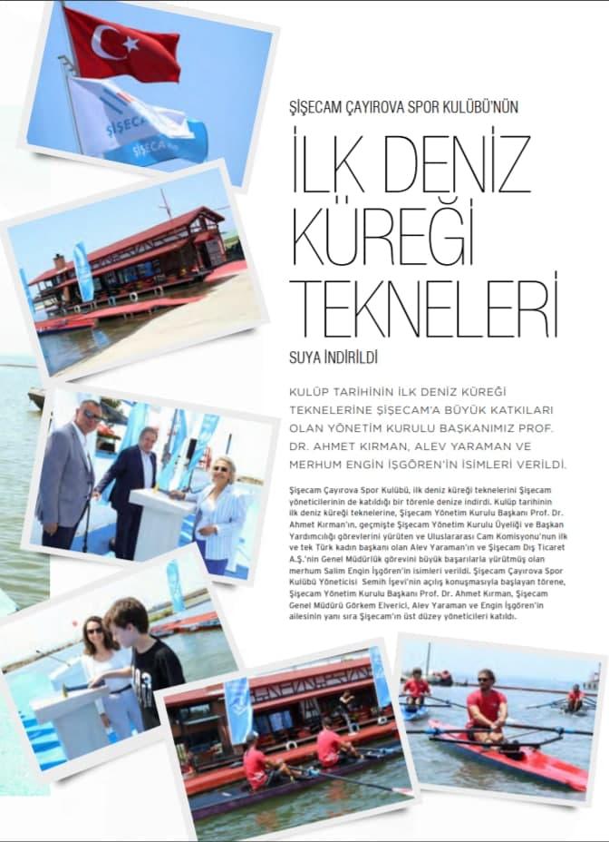 Şisecam Çayırova Spor Kulübü'nün İlk Deniz Küreği Tekneleri